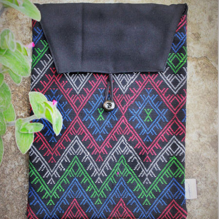 Empower Idu Mishmi Laptop Sleeve (Multicolour on Black)