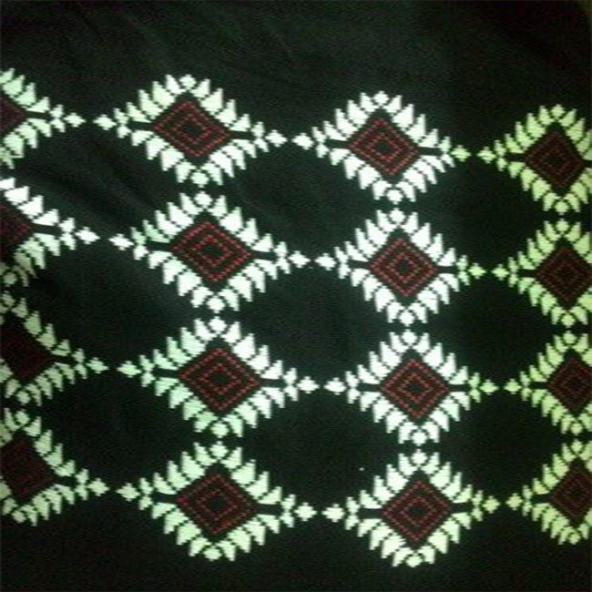 Empower Mishing Cotton Fabric - Black Design 1
