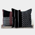 Empower Idu Mishmi Cushion Covers (White on Black)