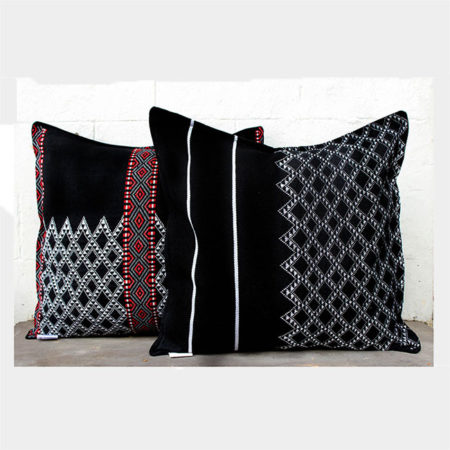 Empower Uploaded ToIdu Mishmi Cushion Covers (Multicolour on Black)