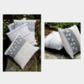 Empower Mishing Cushion Covers (Black Motifs on White)