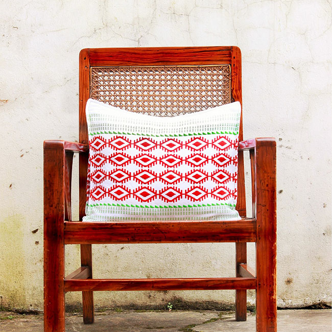 Empower Mishing Cushion Covers (Multicolour on White)