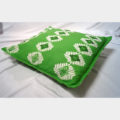 Empower Mishing Cushion Covers (White on Green)
