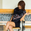 Empower Mishing MultiStyle Black Scarf - Multi colour design