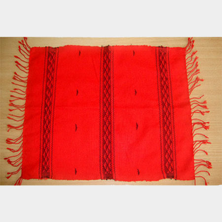 Empower Mishing Table Mat (Black on Red)