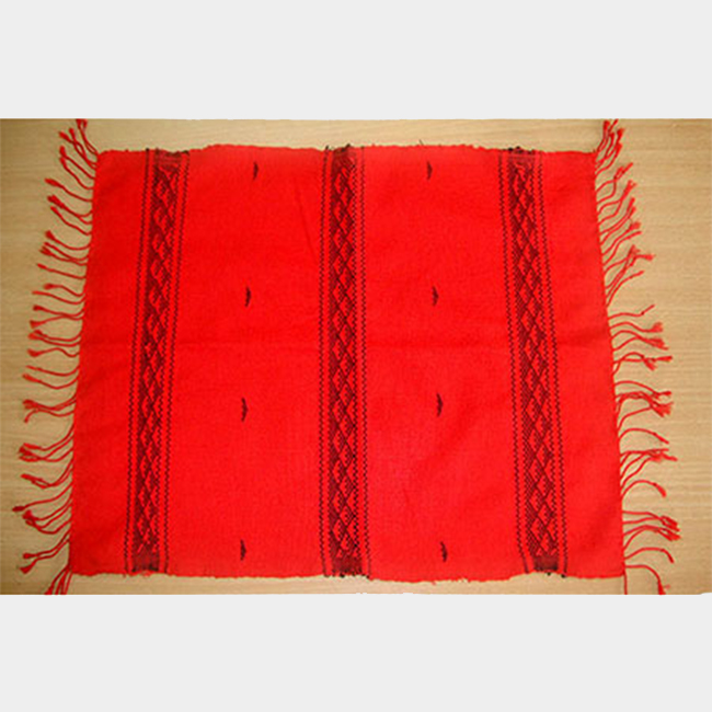 mishing table mat black on red impulse empower