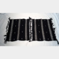Empower Mishing Table Mats (White on Black)
